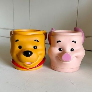 Disney Winnie the Pooh and Piglet 3D Face Cups